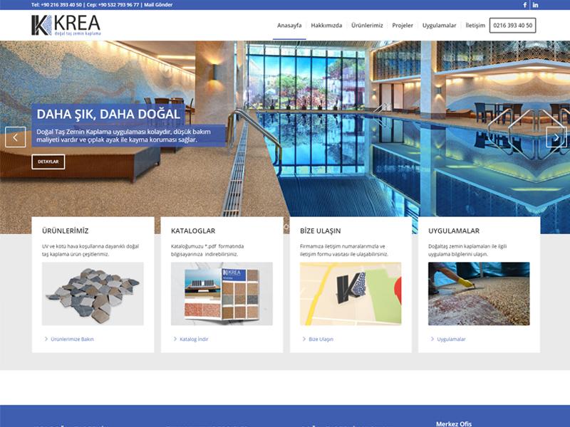 Krea doğal taş ana sayfa tasarımı