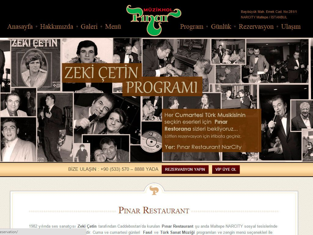 Pınar Restoran Kurumsal Web Sitesi Tasarımı